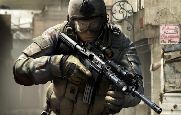 Картинка оружие, война, солдат, SOCOM 4: US Navy SEALs