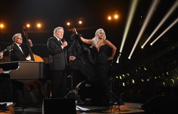 Картинка музыка, music, джаз, jazz, Lady Gaga, Леди Гага, Грэмми, Grammy, Cheek to Cheek, Tony Bennett, …