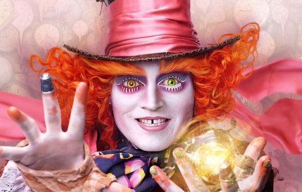 Картинка Johnny Depp, Джонни Депп, Mad Hatter, Алиса в Зазеркалье, 2016, Alice Through the Looking Glass