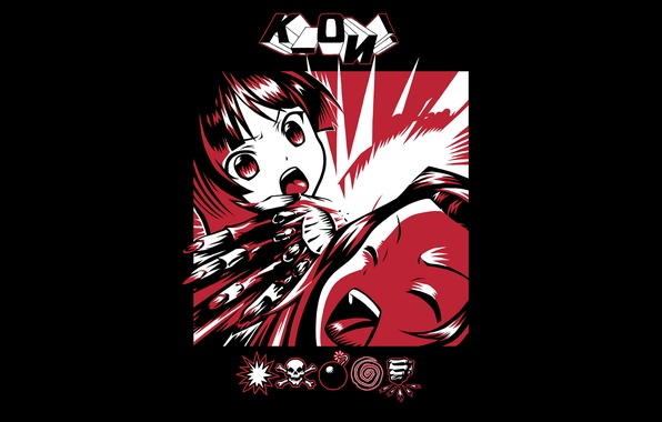Картинка музыка, девушки, настроения, минимализм, аниме, альбом, ненависть, art, Akiyama Mio, легкая музыка, Tainaka Ritsu, KMFDM, ...