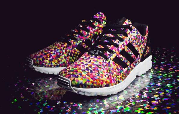 Картинка Адидас, кроссовки, Adidas, Multi Color, ZX Flux, Prisms