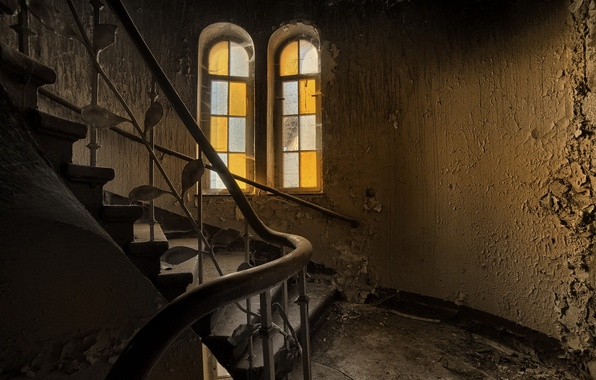 Картинка стены, окно, лестница