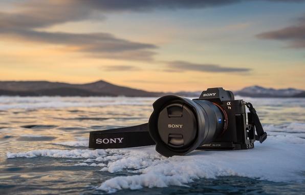 Картинка лёд, камера, Sony