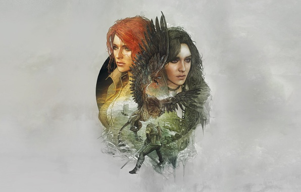 Картинка Трисс Меригольд, Triss Merigold, CD Projekt RED, The Witcher 3: Wild Hunt, Ведьмак 3: Дикая …