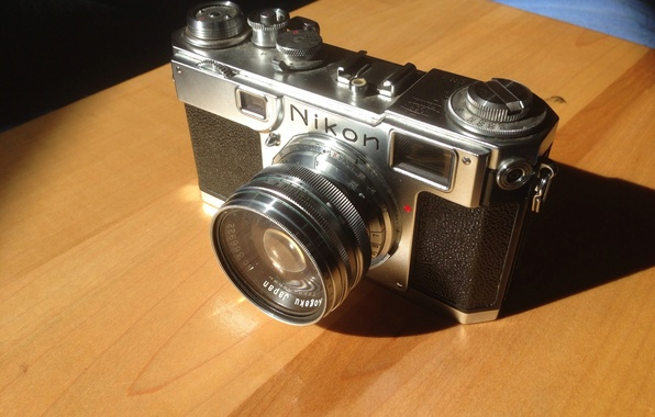 Картинка фон, фотоаппарат, объектив, корпус, пленочный, однообъективный, диафрагма, Nikon S2