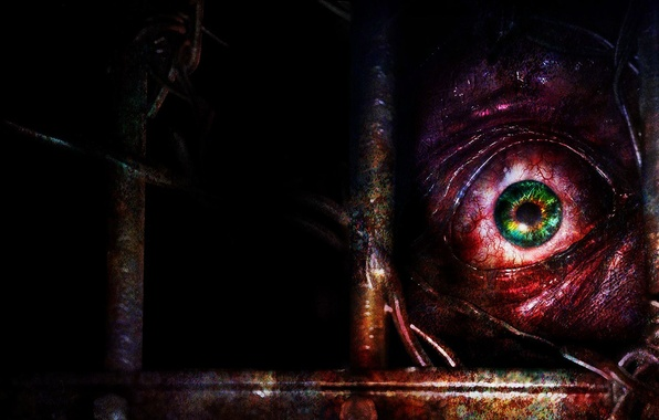 Картинка Взгляд, Глаз, Вены, Зрачок, Capcom, Resident Evil Revelations 2