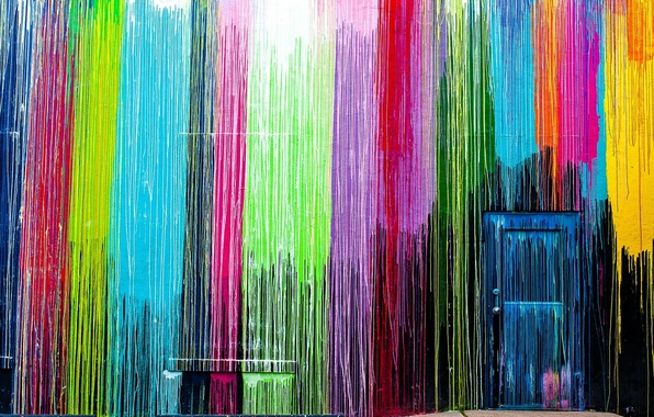 Картинка стена, цвет, дверь