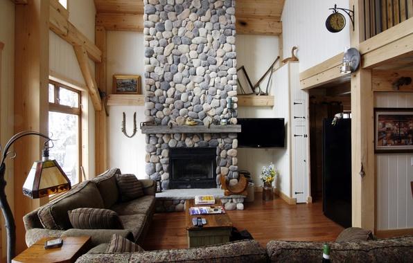Картинка дизайн, дом, стиль, вилла, интерьер, коттедж, гостиная, жилая комната