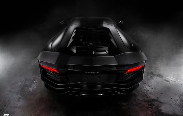 Картинка Lamborghini, Aventador, Johan Lee Photography, Matte Black, by Perillo Collision Center