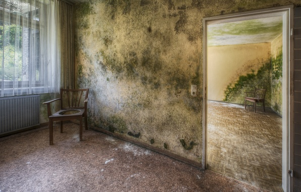 Картинка комната, дверь, стул