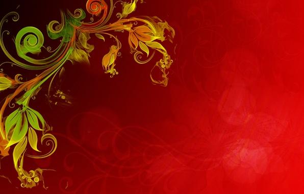 Картинка цветок, желтый, красный, блики, фон, огонь, растение, текстура, эффект