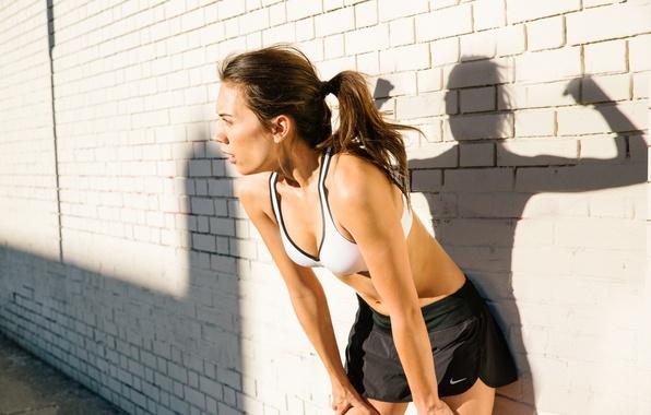 Картинка woman, spirit, pose, shadow, sportswear, physical activity, tiredness