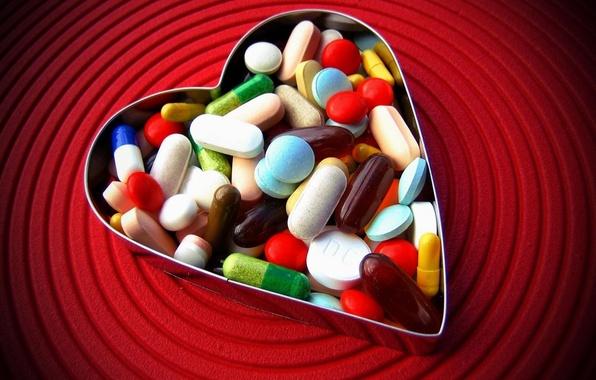 Картинка любовь, сердце, таблетки
