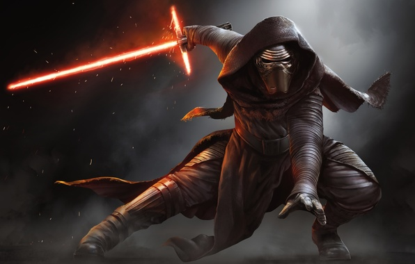 Картинка Star Wars, Action, Fantasy, Fire, Darkness, Black, Warrior, Laser, The, Wallpaper, Smoke, Jedi, Force, Year, …