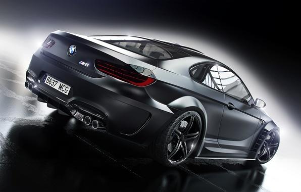 Картинка BMW, Car, Black, Prior Design, Wheels, Rear