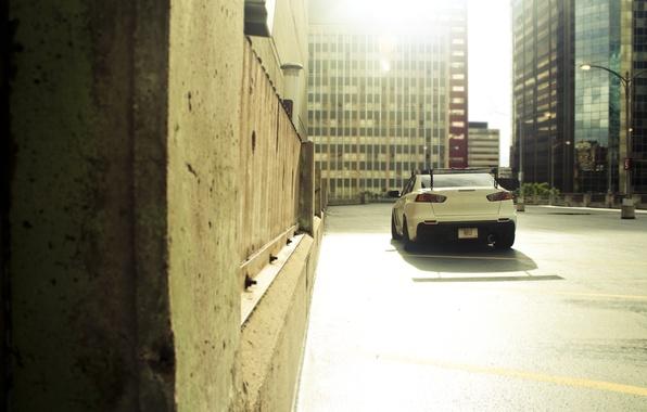 Картинка авто, машины, город, тачки, City, Lancer, парковка, cars, auto, evolution, wallpapers, cars walls, mitsubishi lancer, ...