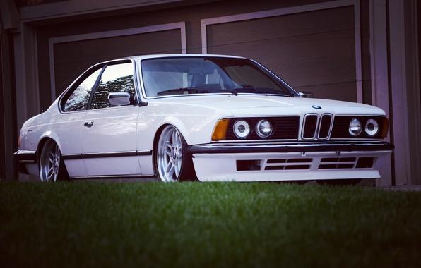 Картинка белый, бмв, BMW, white, классика, E24, биммер, bimmer, 635