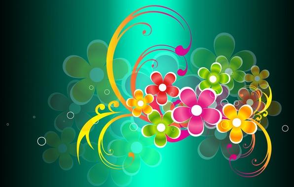 Картинка цветы, коллаж, лепестки, открытка
