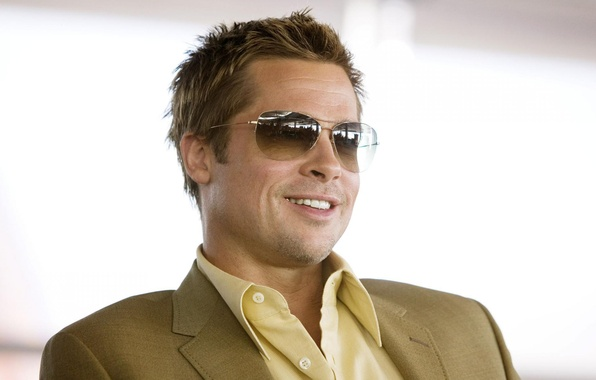 Картинка очки, актер, Brad Pitt
