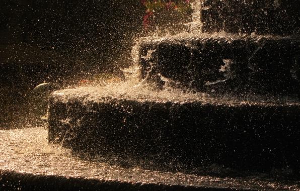 Картинка вода, капли, дождь, капля, лестница, фотографии, лестницы, ступеньки