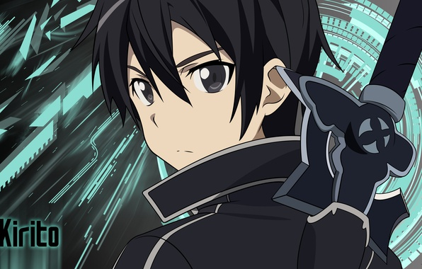 Картинка wallpaper, sword, game, anime, boy, ken, blade, asian, player, manga, japanese, Sword Art Online, Kirito, …
