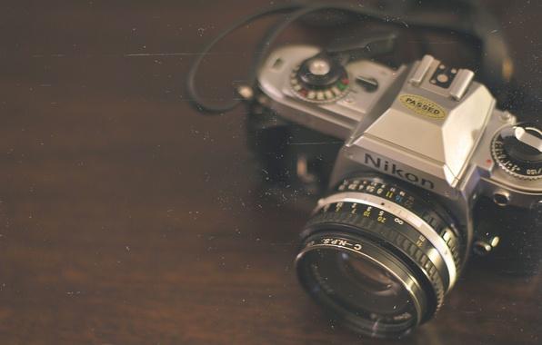 Картинка фотоаппарат, пленка, nikon