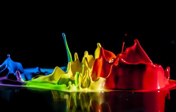 Картинка брызги, краски, цвет, всплеск, жидкость