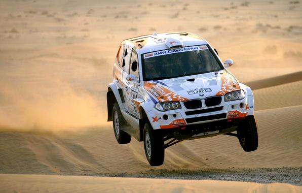 Картинка Песок, BMW, Пустыня, Гонка, БМВ, Rally, Dakar, Дакар, Внедорожник, Передок, 209