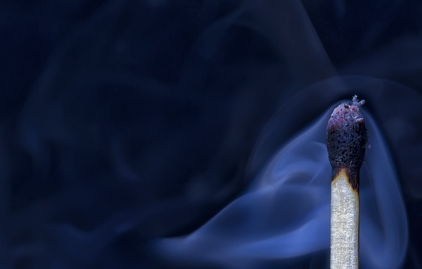 Картинка макро, дым, спичка