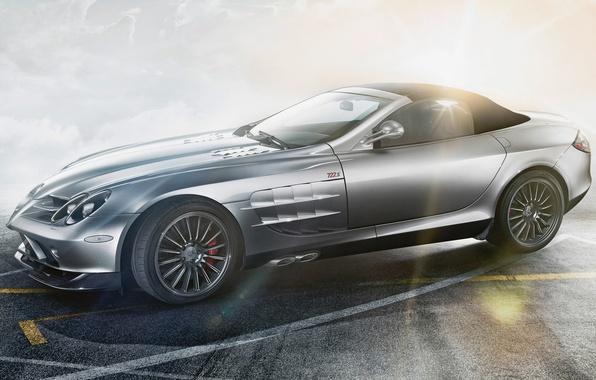 Картинка car, авто, McLaren, Roadster, Mercedes-Benz, 722S, скорость, SLR, R199