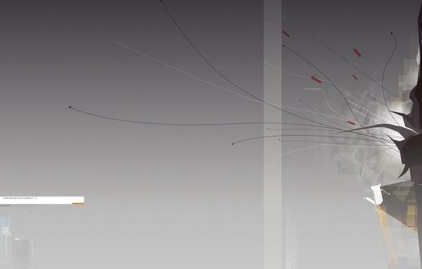 Картинка линии, минимализм, градиент