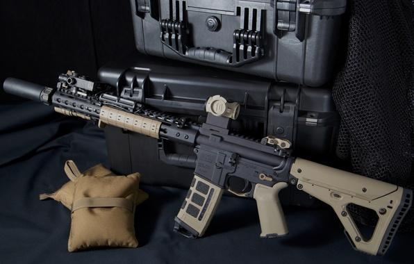 Картинка оружие, ящики, AR-15, штурмовая винтовка