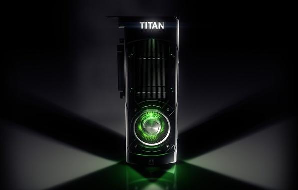 Картинка Light, Nvidia, GeForce, Green, Black, GPU, Gaming, VGA, 12GB, Heat sink, Cooler, Titan X, Graphics …