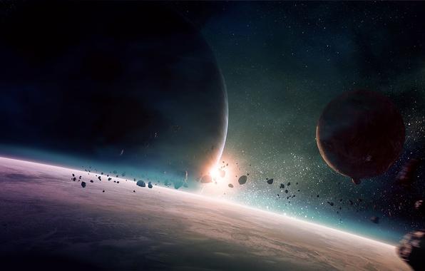 Картинка космос, арт, space, planet, qauz