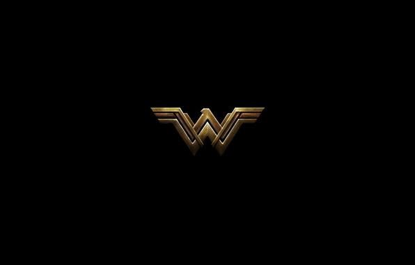 Картинка cinema, red, logo, Wonder Woman, black, yellow, movie, hero, Prince, film, DC Comics, Diana, yuusha, …