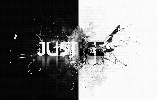Картинка стиль, надпись, узоры, ч/б, style, patterns, слово, 1920x1080, lettering, word, b&w, justice, правосудие