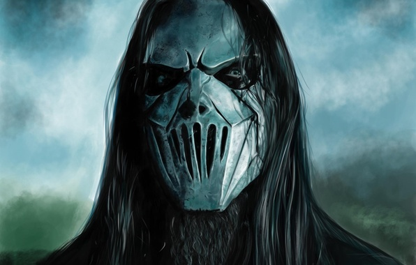 Картинка маска, арт, мужчина, Mick Thompson, SLIPKNOT, Carolina Camino