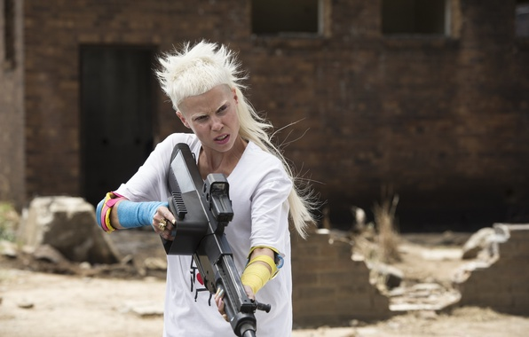 Картинка Girl, Action, Fantasy, Beautiful, with, White, Wallpaper, Guns, Eyes, Blonde, Woman, Year, Weapons, Walt Disney ...