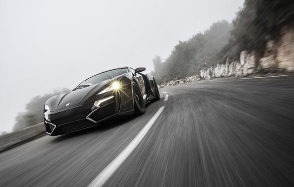 Картинка движение, скорость, трасса, HyperSport, Lykan