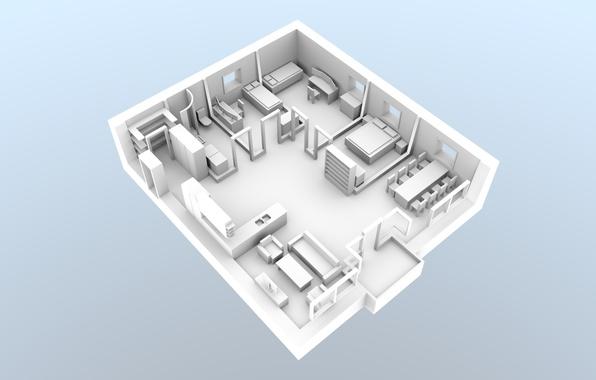 Картинка concept, house, white, design