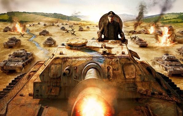 Рисунок немцы танки наступление