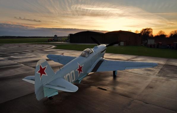 Фото обои Фронтовой, Як-3М, истребитель, одномоторный