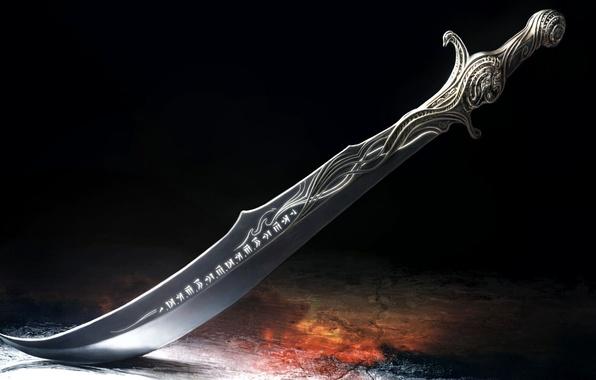 Картинка узор, меч, лезвие, символы, prince of persia, рукоять