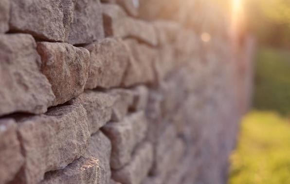 Картинка солнце, макро, фон, стена, widescreen, обои, кирпич, wallpaper, широкоформатные, background, стенка, кирпичная стена, полноэкранные, HD …