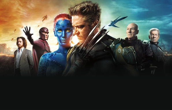 Картинка Girl, Mystique, Wolverine, Hugh Jackman, X-Men, Logan, the, Marvel, Old, James McAvoy, Magneto, Michael Fassbender, …