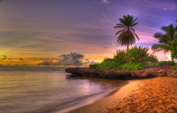 Картинка море, пляж, небо, облака, пейзаж, закат, природа, colors, beach, восход солнца, sky, sea, landscape, nature, …