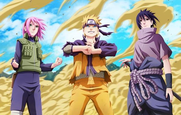 Картинка песок, девушка, радость, настроение, злость, безразличие, парни, Наруто, Naruto, art, uchiha sasuke, uzumaki naruto, haruno …