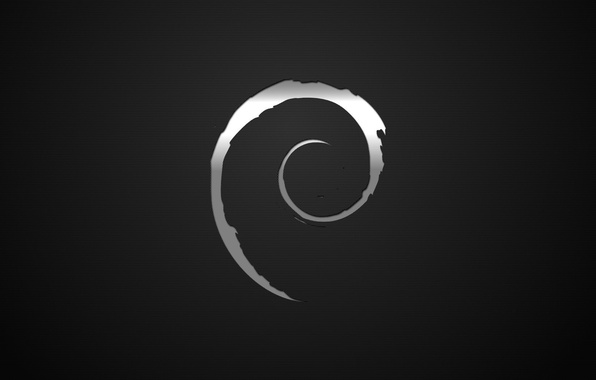 Фото обои dark, Debian, Linux