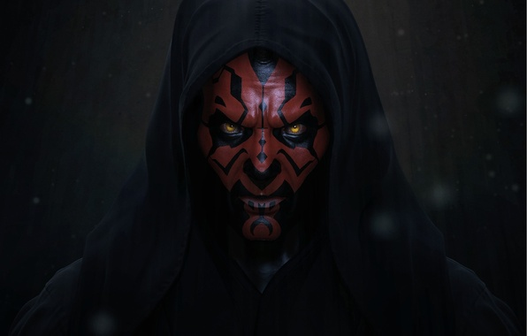 Фото обои star wars, The Sith Lord, Darth Maul, Дарт Мол, арт, ситх