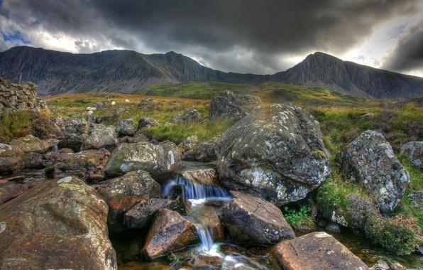 Картинка вода, горы, природа, река
